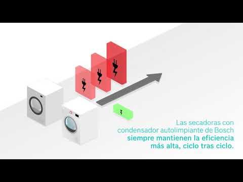 Secadora con bomba de calor y condensador autolimpiante de Bosch